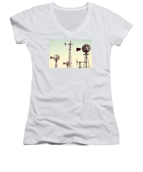 Bountiful Windmills Women's V-Neck