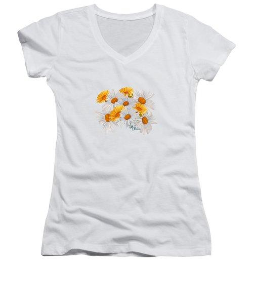 Bouquet Of Wild Flowers Women's V-Neck T-Shirt