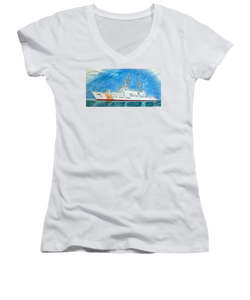 Boutwell-u.s.coast Guard 719 Women's V-Neck T-Shirt
