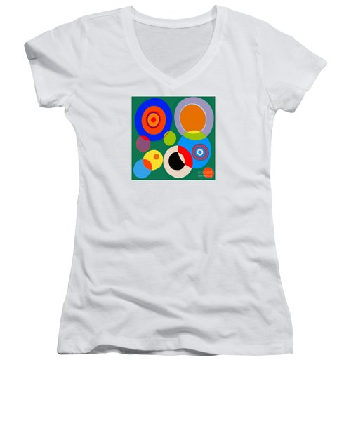 Women's V-Neck T-Shirt (Junior Cut) featuring the painting boy by Beth Saffer