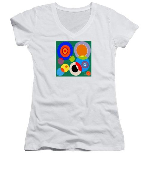 boy Women's V-Neck T-Shirt (Junior Cut) by Beth Saffer