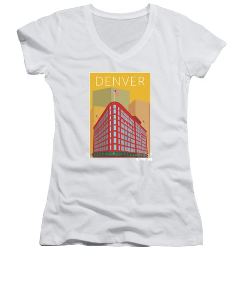 Denver Brown Palace/gold Women's V-Neck (Athletic Fit)