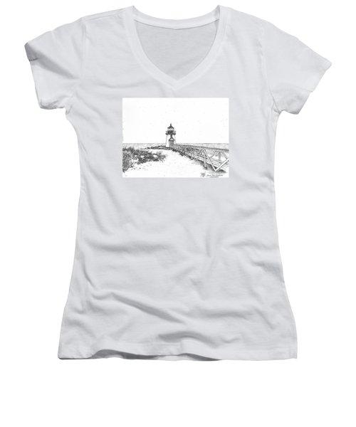 Brant Point Lighthouse Women's V-Neck