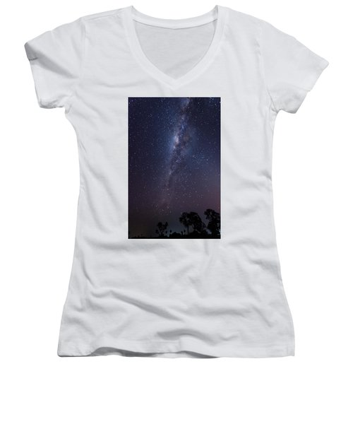 Women's V-Neck T-Shirt featuring the photograph Brazil By Starlight by Alex Lapidus