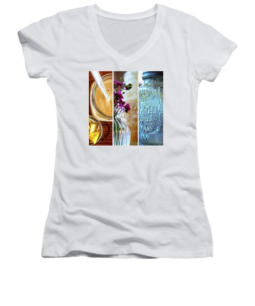 Breakfast Options Women's V-Neck (Athletic Fit)