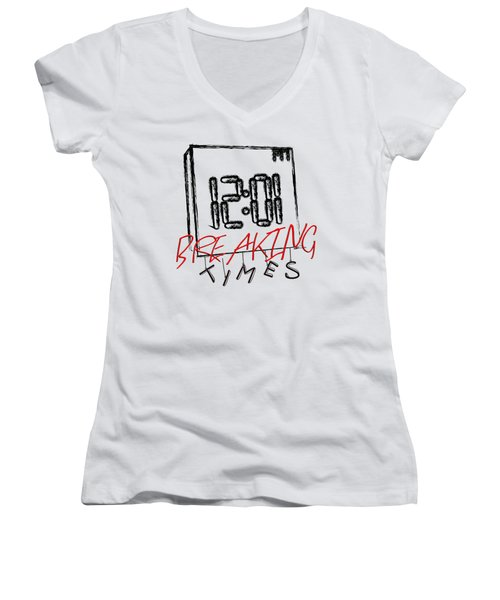 Breaking Times Women's V-Neck (Athletic Fit)