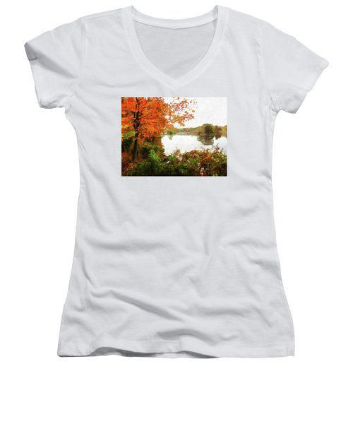Breath Of Autumn Women's V-Neck (Athletic Fit)