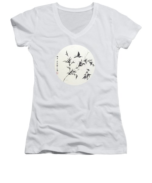 Breeze Of Spring - Round Women's V-Neck (Athletic Fit)