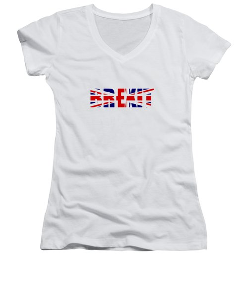 Brexit Women's V-Neck T-Shirt (Junior Cut) by Roger Lighterness