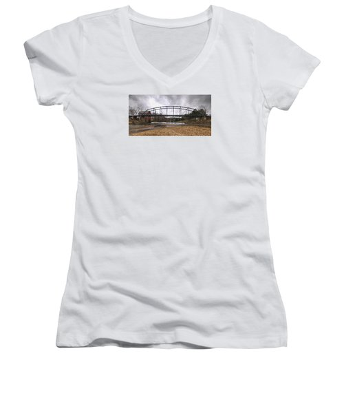 Bridge At The Mill Women's V-Neck (Athletic Fit)