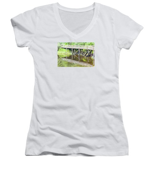 Bridge To Nowhere Women's V-Neck T-Shirt