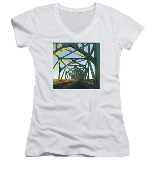 Bridge To Oregom Women's V-Neck T-Shirt