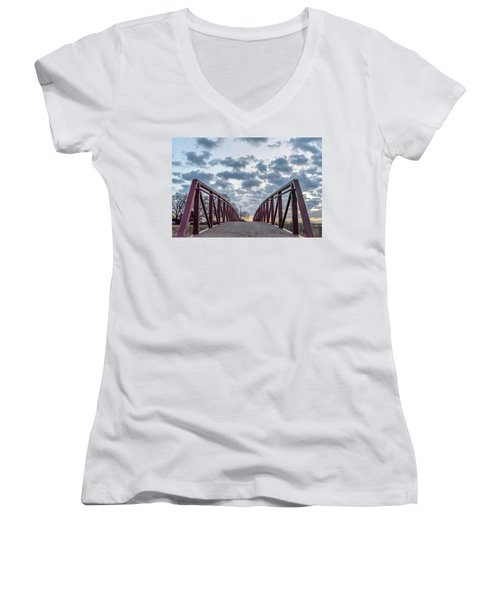 Bridge To The Clouds Women's V-Neck (Athletic Fit)