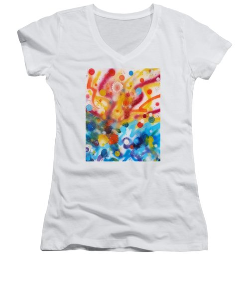 Bringing Life Spray Painting  Women's V-Neck