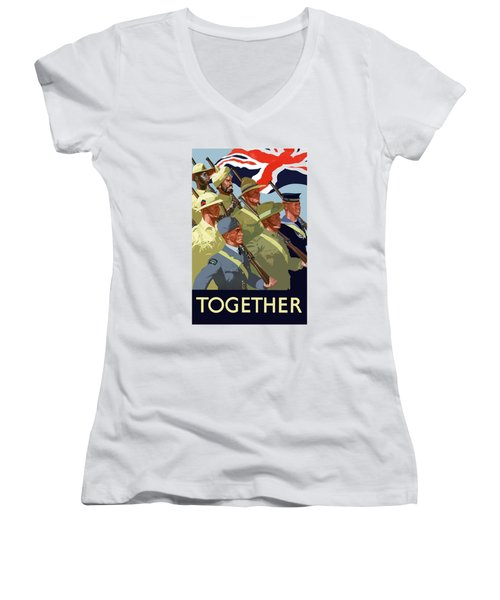 British Empire Soldiers Together Women's V-Neck