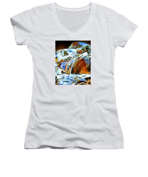 Broken Glass In A Stairwell Women's V-Neck T-Shirt