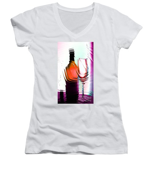 Broken Promise Women's V-Neck T-Shirt (Junior Cut) by Donna Bentley