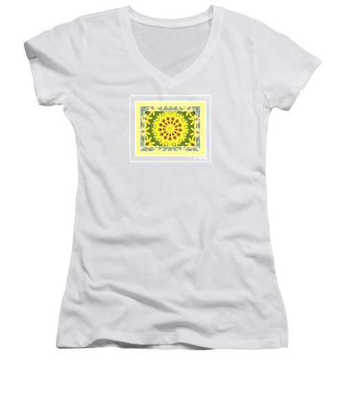 Brown Eyed Susan X2 Women's V-Neck (Athletic Fit)
