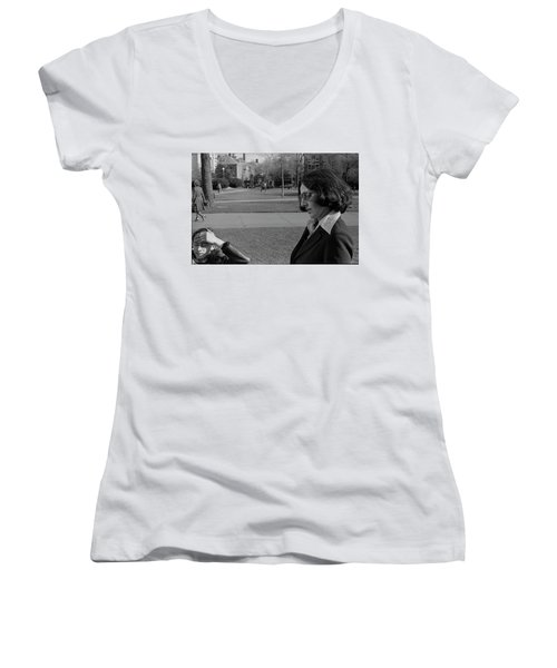 Brown University Student And His Mother, 1975 Women's V-Neck