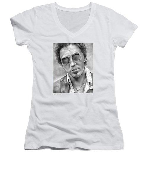 Bruce Springsteen Women's V-Neck T-Shirt