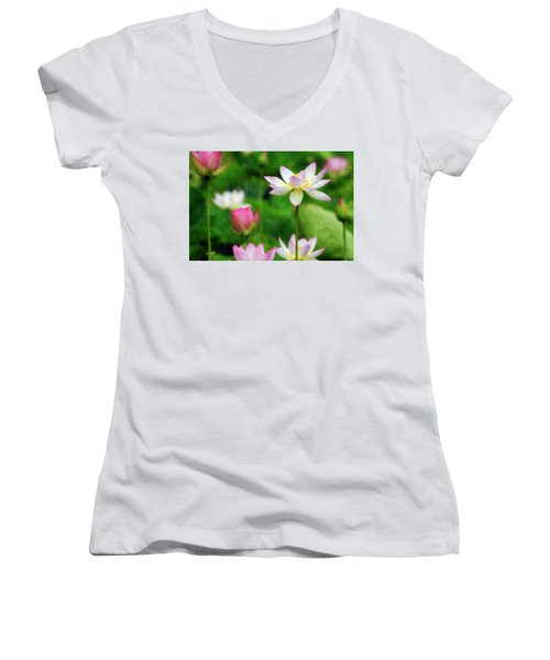 Brushed Lotus Women's V-Neck