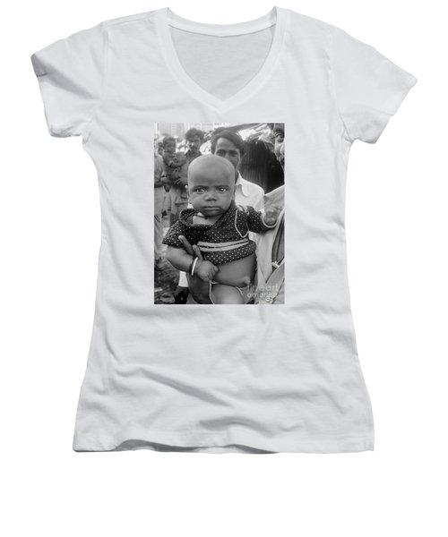 Buddha Baby, Mumbai India  Women's V-Neck (Athletic Fit)