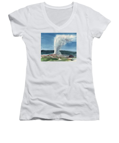 Buffalo And Geyser Women's V-Neck (Athletic Fit)