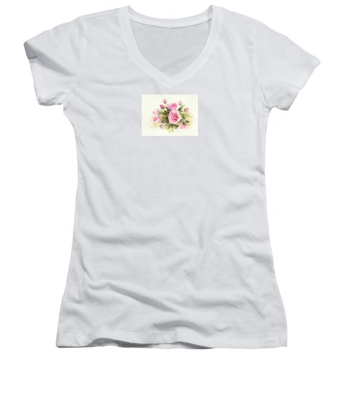 Bunch Of Roses Women's V-Neck