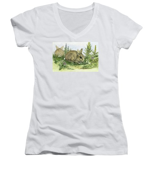 Bunnies Women's V-Neck