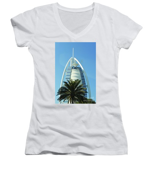 Burj Al Arab Women's V-Neck T-Shirt