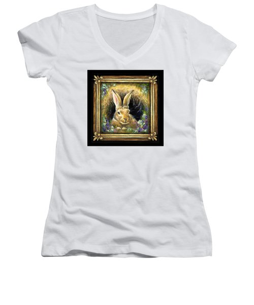 Burrowing Into Tranquility Women's V-Neck