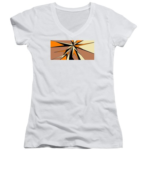 Burst Of Orange 2 Women's V-Neck T-Shirt