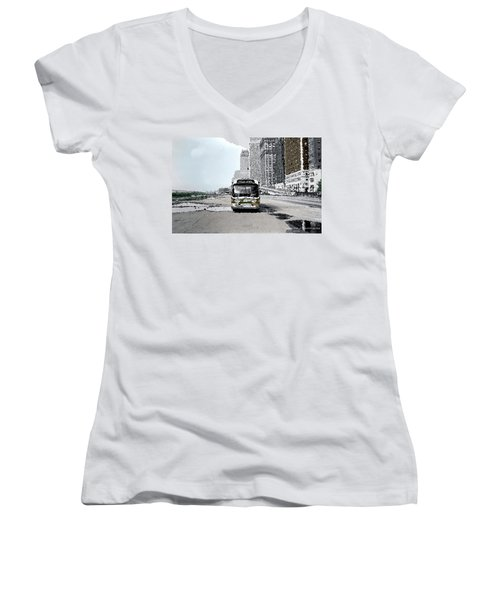 Bus Women's V-Neck T-Shirt