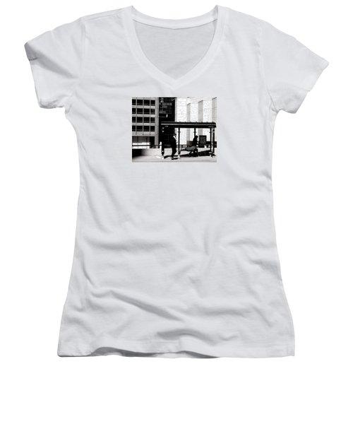 Bus Stop Women's V-Neck T-Shirt