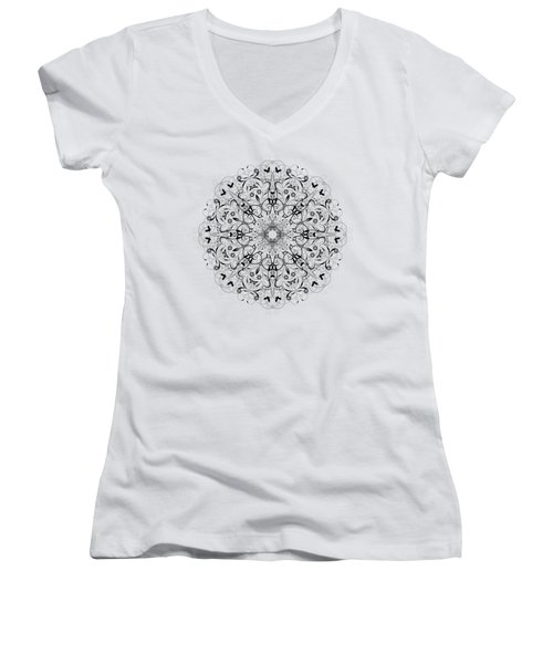Butterflies And Grapes  Women's V-Neck (Athletic Fit)