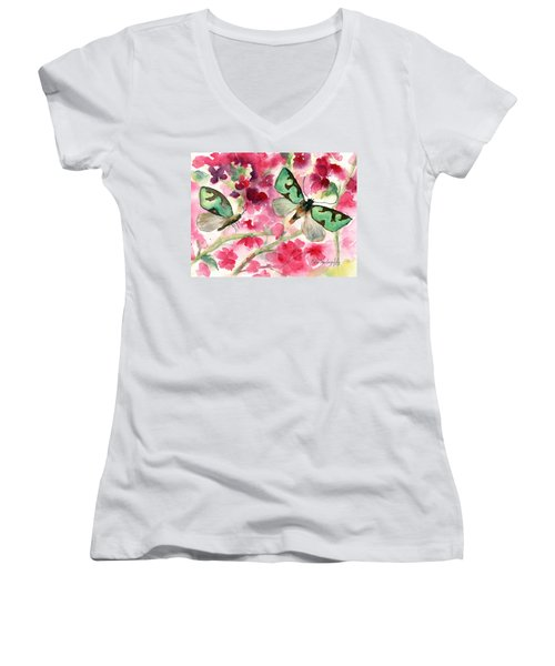 Butterflies Women's V-Neck