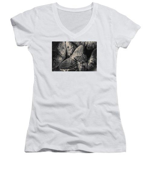 Butterfly #2056 Women's V-Neck T-Shirt (Junior Cut) by Andrey Godyaykin