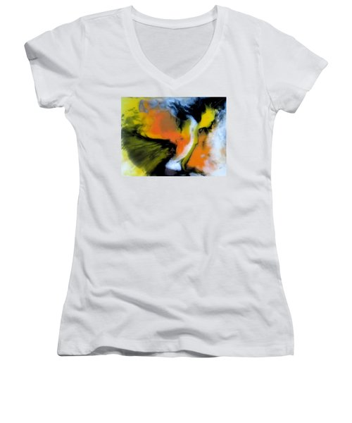 Butterfly Wings Women's V-Neck T-Shirt (Junior Cut) by Mary Kay Holladay