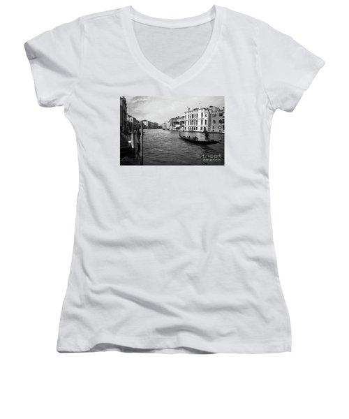 Bw Venice Women's V-Neck T-Shirt (Junior Cut) by Yuri Santin