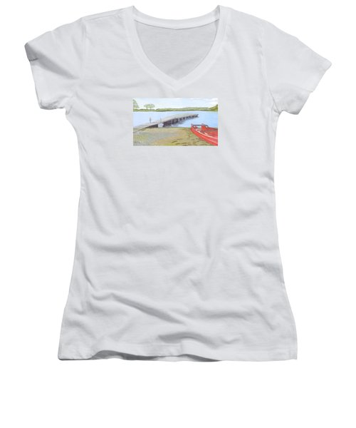 By The Lake Women's V-Neck (Athletic Fit)
