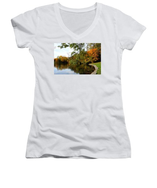 By The Pond Women's V-Neck (Athletic Fit)