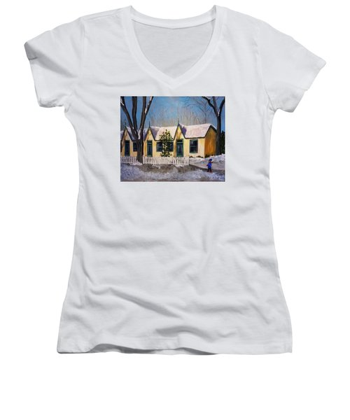 Cabbagetown Christmas Women's V-Neck T-Shirt