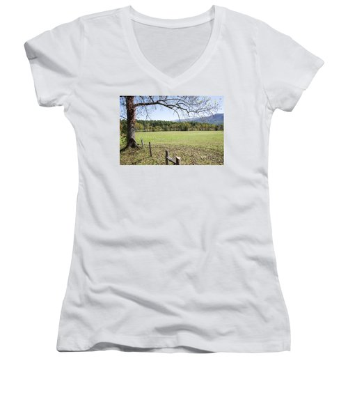 Cades Fence Women's V-Neck T-Shirt