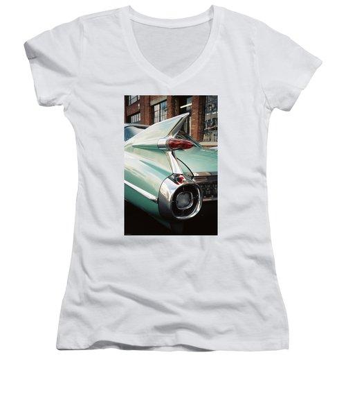 Cadillac Fins Women's V-Neck