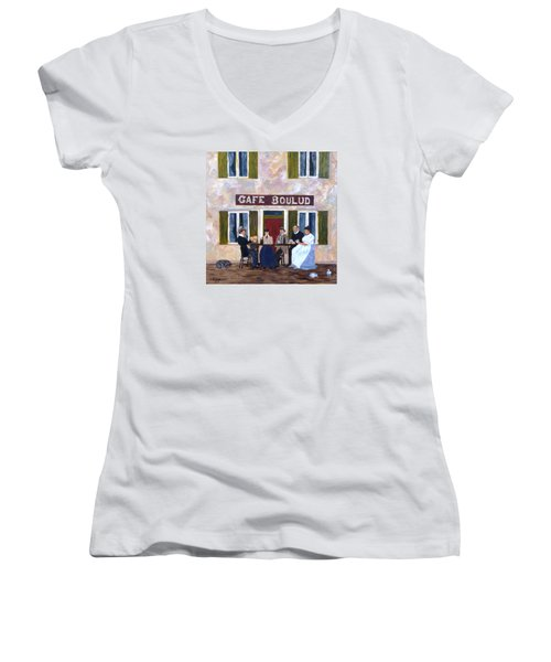 Cafe Boulud Women's V-Neck T-Shirt