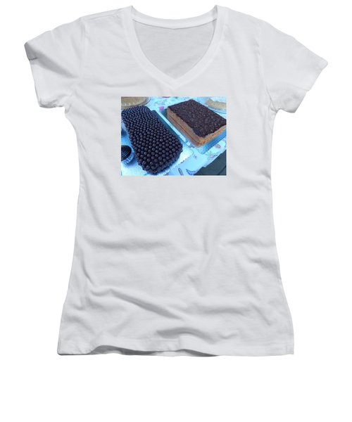 Women's V-Neck T-Shirt (Junior Cut) featuring the photograph Cake And Dreams by Beto Machado