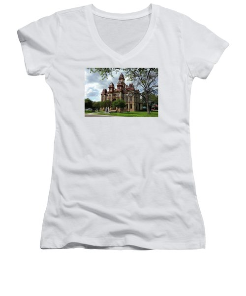 Caldwell County Courthouse Women's V-Neck T-Shirt