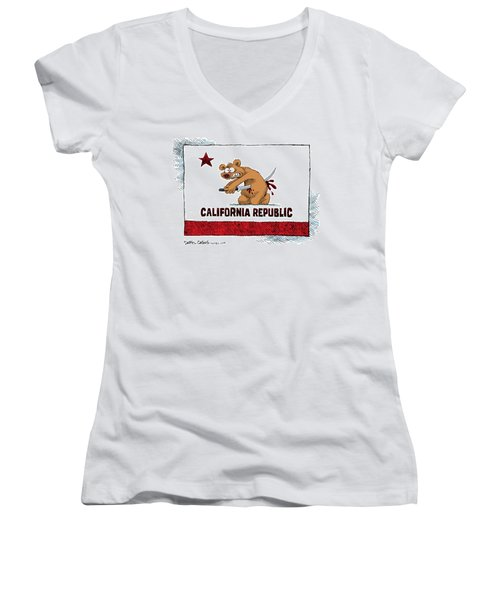California Budget Harakiri Women's V-Neck