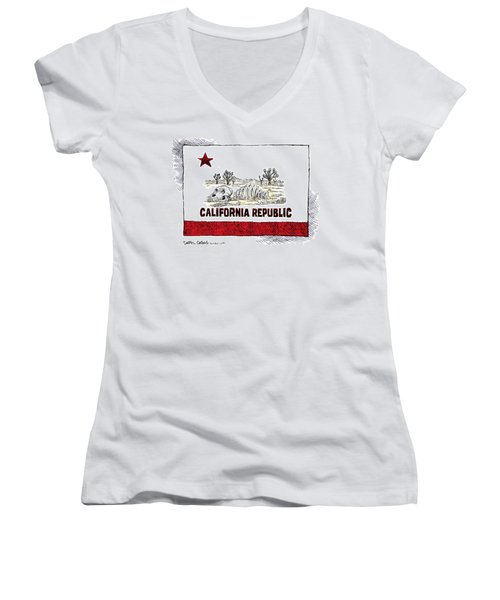 California Drought Women's V-Neck