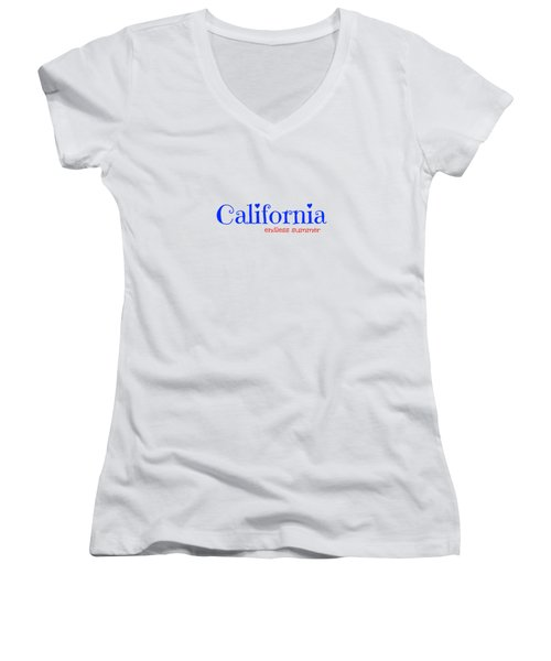 California Endless Summer Women's V-Neck (Athletic Fit)